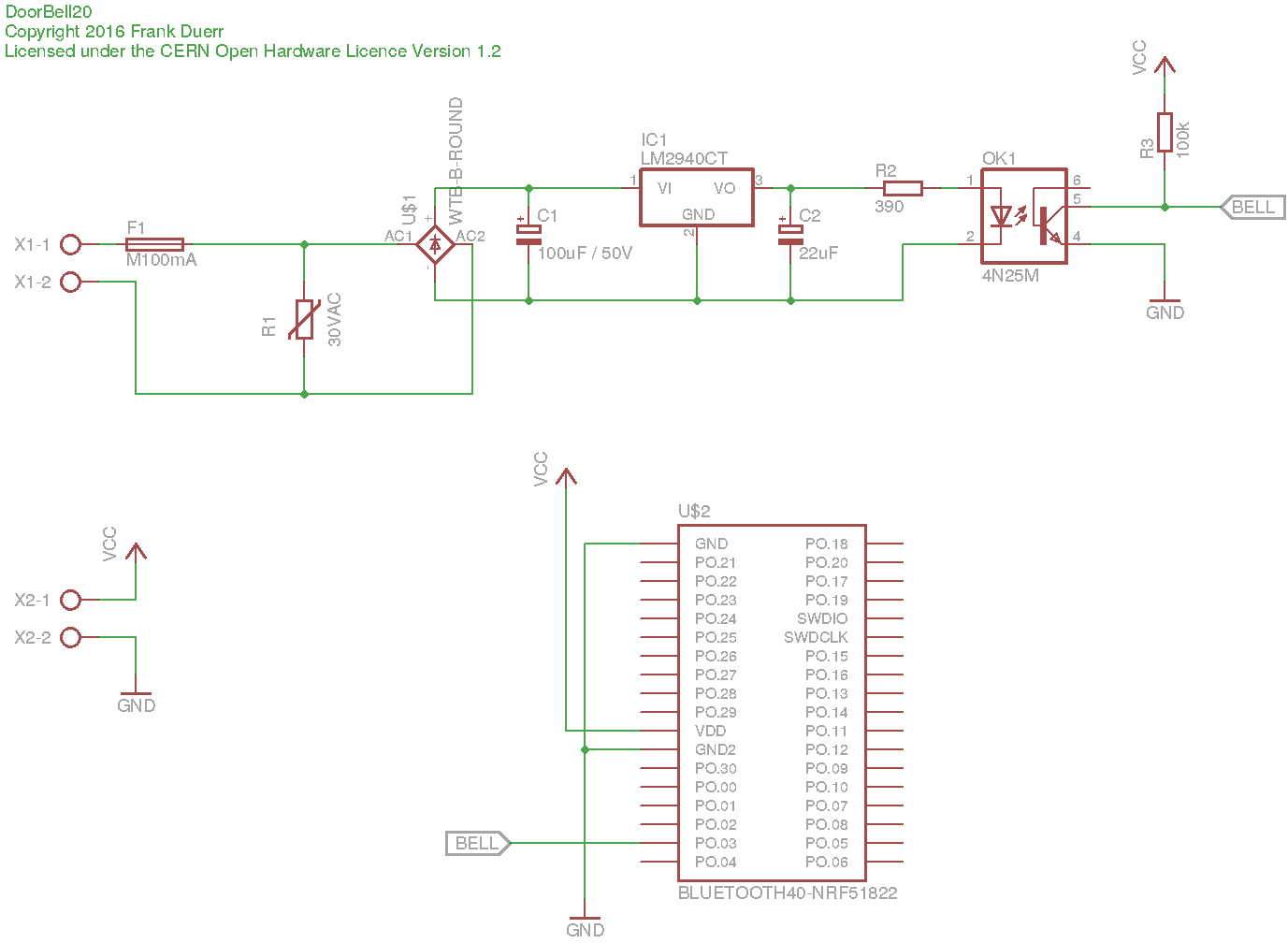 Schematic of DoorBell20 device